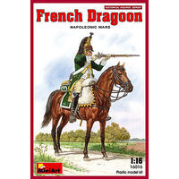 Mini-Art French Dragoon Napoleonic Wars Plastic Model Military Figure 1/16 Scale #16016