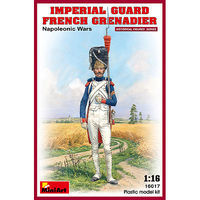 Mini-Art Imperial Guard French Grenadier Napoleonic Wars Plastic Model Military Figure 1/16 #16017