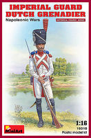 Mini-Art Imperial Guard Dutch Grenadier Napoleonic Wars Plastic Model Military Figure 1/16 #16018