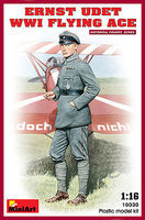 Mini-Art Ernst Udet. WWI Flying Ace Plastic Model Military Figure 1/16 Scale #16030