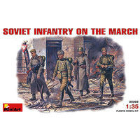 Mini-Art WWII Soviet Infantry on the March (4) Plastic Model Military Figure 1/35 Scale #35002