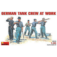 Mini-Art German Tank Crew at Work (5) Plastic Model Military Figure 1/35 Scale #35010