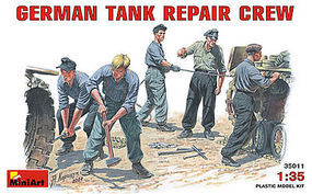 Mini-Art German Tank Repair Crew Plastic Model Military Figure 1/35 Scale #35011