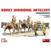 Mini-Art Soviet Divisional Artillery Set Plastic Model Military Figure 1/35 Scale #35045