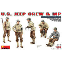 Mini-Art US Jeep Crew & MP (5) Plastic Model Military Figure 1/35 Scale #35047