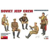 Mini-Art Soviet Jeep Crew Plastic Model Military Figure 1/35 Scale #35049