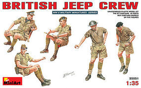 Mini-Art British Jeep Crew Plastic Model Military Figure 1/35 Scale #35051