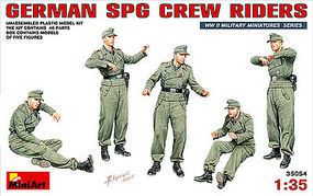 Mini-Art German SPG Crew Riders (5) Plastic Model Military Figure 1/35 Scale #35054