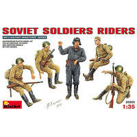 Mini-Art Soviet Soldiers Riders (5) Plastic Model Military Figure 1/35 Scale #35055