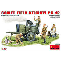 Mini-Art Soviet Field Kitchen KP-42 Plastic Model Military Diorama Kit 1/35 Scale #35061