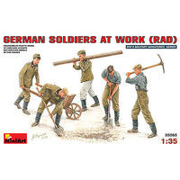 Mini-Art German Soldiers at Work RAD (5 figures) Plastic Model Military Figure 1/35 Scale #35065