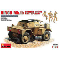 Mini-Art Dingo Mk Ib British Scout Car w/3 Crew Plastic Model Military Vehicle Kit 1/35 Scale #35067