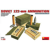 Mini-Art Soviet 122mm Ammunition Plastic Model Military Diorama Kit 1/35 Scale #35068