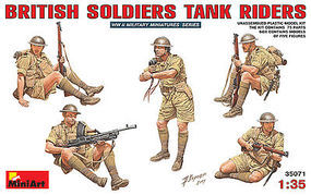 Mini-Art British Soldiers Tank Riders Plastic Model Military Figure 1/35 Scale #35071