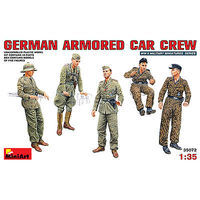 Mini-Art German Armored Car Crew Plastic Model Military Figure 1/35 Scale #35072