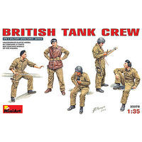 Mini-Art British Tank Crew (5) Plastic Model Military Figure 1/35 Scale #35078