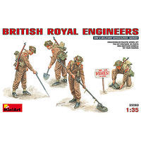 Mini-Art British Royal Engineers (4 Figures) Plastic Model Military Figure 1/35 Scale #35083