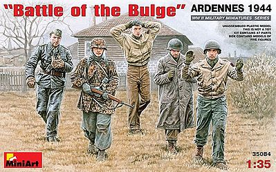 Mini-Art Battle of the Bulge Ardennes 1944 -- Plastic Model Military Figure -- 1/35 Scale -- #35084