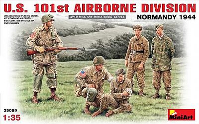Mini-Art US 101st Airborne Division Plastic Model Military Figure 1/35 Scale #35089