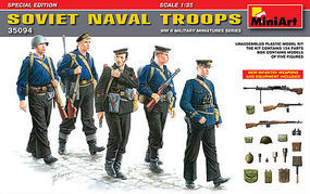 Mini-Art Soviet Naval Troops Special Edition Plastic Model Military Figure 1/35 Scale #35094
