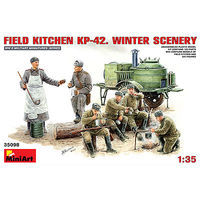 Mini-Art Field Kitchen KP42 Winter Scenery Plastic Model Military Diorama Kit 1/35 Scale #35098