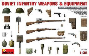 Mini-Art Soviet Infantry Weapons/Equipment Plastic Model Military Weapon 1/35 Scale #35102