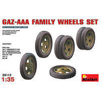 Mini-Art GAZ-AAA Family Wheel Set Plastic Model Military Wheels 1/35 Scale #35112