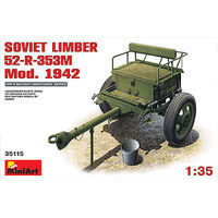 Mini-Art Soviet Limber 52R 353M Model 1942 Plastic Model Military Diorama Kit 1/35 Scale #35115
