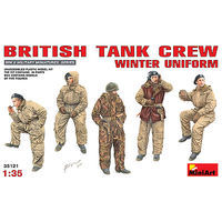 Mini-Art British Tank Crew Winter Uniform (5) Plastic Model Military Figure 1/35 Scale #35121
