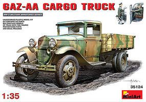 Mini-Art GAZ-AA Cargo Truck Plastic Model Military Truck Kit 1/35 Scale #35124
