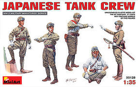 Mini-Art Japanese Tank Crew Plastic Model Military Figure 1/35 Scale #35128