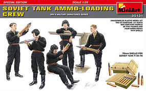 Mini-Art Soviet Tank Ammo Loading Crew (5) Plastic Model Military Figure 1/35 Scale #35131