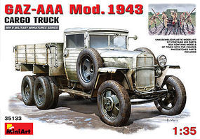 Mini-Art GAZ-AAA Mod 1943 Cargo Truck w/5 Crew Plastic Model Military Truck Kit 1/35 Scale #35133