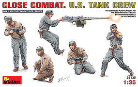 Mini-Art Close Combat US Tank Crew Plastic Model Military Figure 1/35 Scale #35135