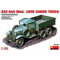 Mini-Art GAZ-AAA Mod 1940 Cargo Truck Plastic Model Military Truck Kit 1/35 Scale #35136