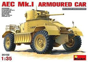 Mini-Art AEC MK 1 Armoured Car Plastic Model Armored Car Kit 1/35 Scale #35152