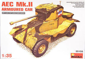 Mini-Art AEC Mk 2 Armored Car Plastic Model Tank Kit 1/35 Scale #35155