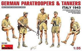 Mini-Art German Paratroopers/Tankers Italy 1943 Plastic Model Military Figure 1/35 Scale #35163