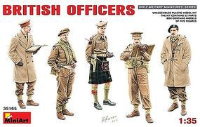 Mini-Art British Officers (5) (New Tool) Plastic Model Military Figure 1/35 Scale #35165