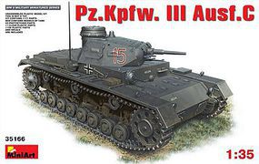 Mini-Art PzKpfw III Ausf C Tank Plastic Model Military Vehicle Kit 1/35 Scale #35166