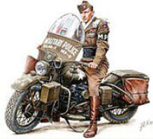 Mini-Art 1/35 US Military Policeman w/Motorcycle