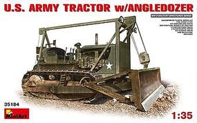 Mini-Art US Army Tractor with Angle Dozer Plastic Model Military Vehicle Kit 1/35 Scale #35184
