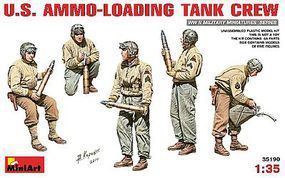 Mini-Art 1/35 US Ammo-Loading Tank Crew (5) (New Tool)