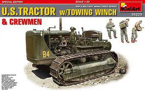 Mini-Art US Tractor with Tow Winch/Figures Plastic Model Military Vehicle Kit 1/35 Scale #35225