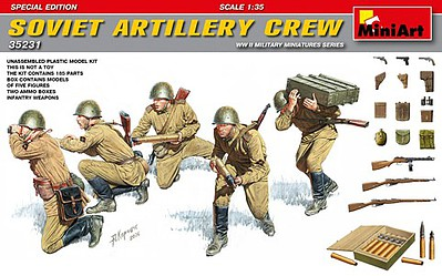 Special Edition 5 Figures MiniArt 1//35 35281 WWII Soviet Soldiers Riders