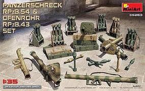 Anti-Tank Rocket Launcher Set Plastic Model Military Figure Kit 1/35 Scale #35263