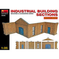Mini-Art Industrial Building Sections Plastic Model Diorama Kit 1/35 Scale #35546