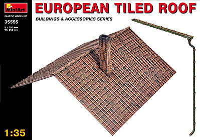 Mini-Art European Tiled Roof Plastic Model Diorama 1/35 Scale #35555