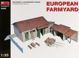 Mini-Art European Farmyard Plastic Model Diorama 1/35 Scale #35558