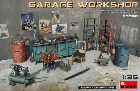 Mini-Art Garage Workshop-Equipment&Tools 1-35